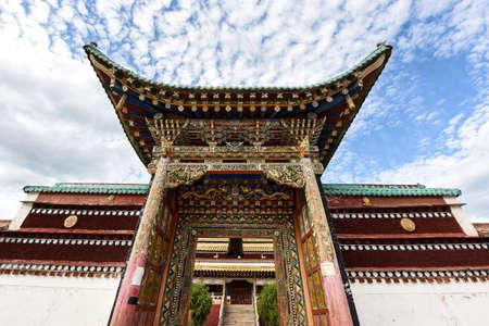 The gates of Tibetan Buddhist temples