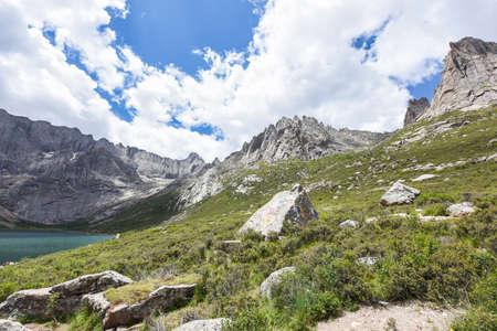 Zhaqalcuo, the plateau of Lianbaoyeze scenic area, Aba, Sichuan, China Zdjęcie Seryjne