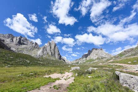 The mountain lianbaoyese of the Qinghai-Tibet Plateau in Aba, Sichuan, China Zdjęcie Seryjne
