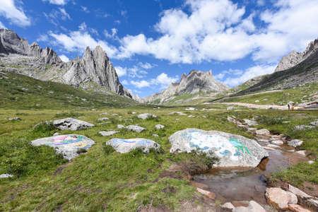 The mountain lianbaoyeze of the Qinghai-Tibet Plateau in Aba, Sichuan, China