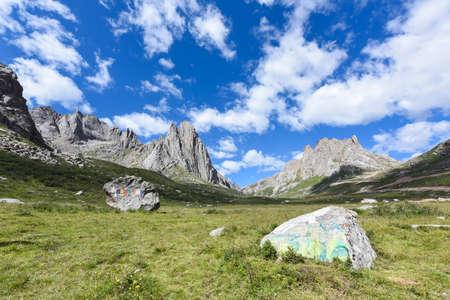 Górski lianbaoyeze płaskowyżu Qinghai-Tybet w Aba, Syczuan, Chiny