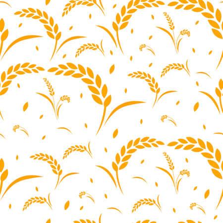 pattern wheat grain harvest Illustration