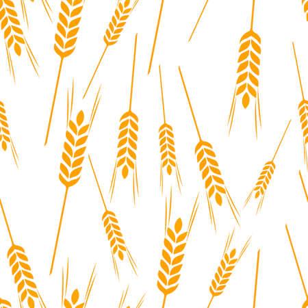 Pattern wheat grain harvest Ilustrace