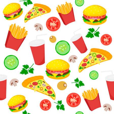 Modello icona di fast food Archivio Fotografico - 82052385
