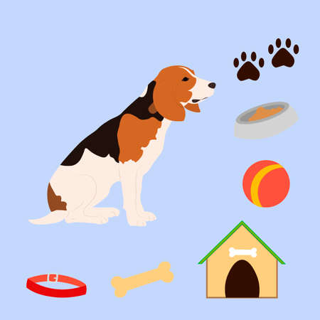 doghouse: Cute Dog Character.