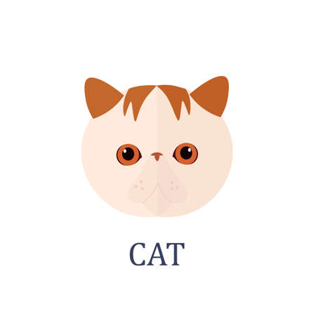 A Cat on a white background Vector illustration Illusztráció