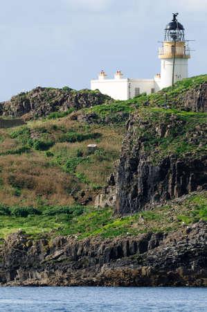 lothian: Fidra light from Yellowcraig beach, East Lothian, Scotland