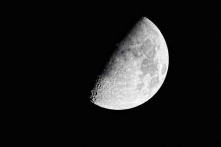 gibbous: Close-up of the waxing gibbous moon (60%)