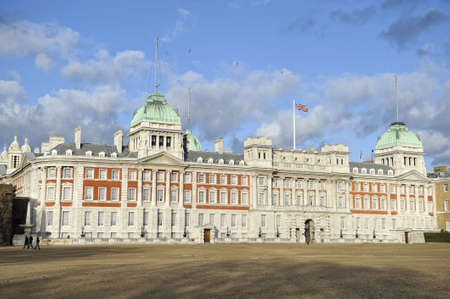 neoclassic: Admiralty House, London, England, UK.  Also known as Old Admiralty Office. Rear facade looking out over Horse Guards Parade.