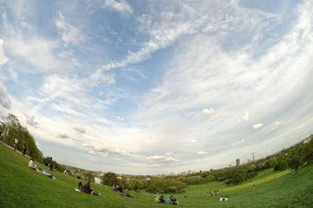 Skyline from Primrose Hill, Regents Park London England UK photo