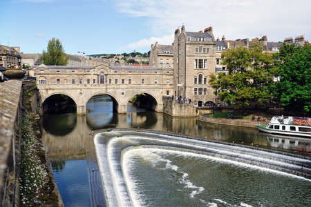Pulteney Bridge, Bath, Somerset, England, UK Stock Photo - 5550486
