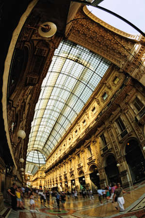 Galleria Vittorio Emanuele II, historical arcade, Milan, Lombardy, Italy Stock Photo
