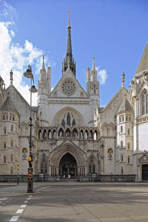 Royal Courts of Justice, The Strand, London, England, UK, Europe Zdjęcie Seryjne - 7552801