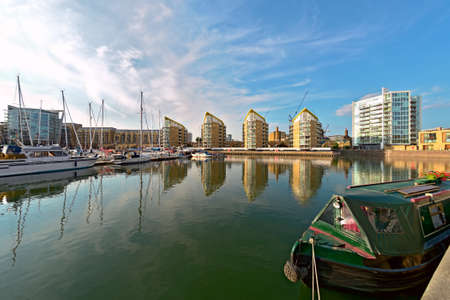 Limehouse Basin, Tower Hamlets, London, England, UK, Europe, in the early evening