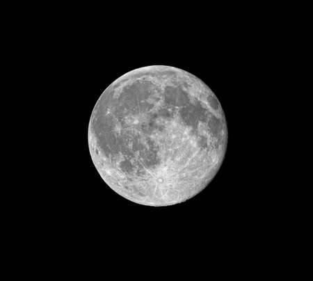 gibbous: Close-up of waning gibbous moon, 99% of full, taken on 23 October 2010 Stock Photo