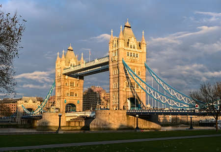 Tower Bridge, London, England, UK, Europe, catching the low, late afternoon, winter light photo