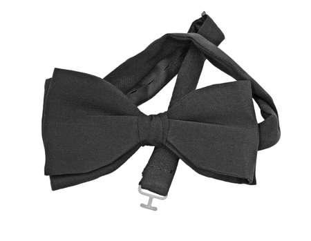 Pre-tied black silk bow tie Stock Photo - 9137174
