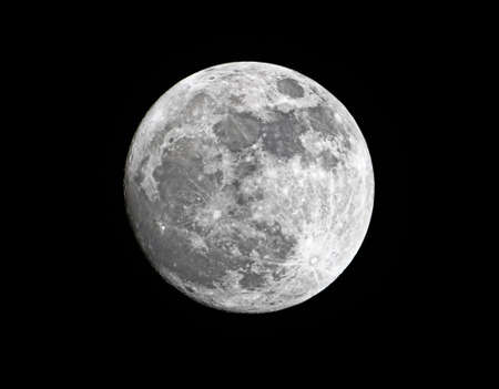 gibbous: Close-up of waxing gibbous super moon, 98% of full, close to its perigee, taken on 18 March 2011