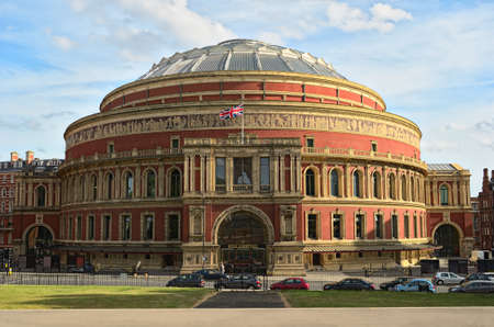 famous place: Royal Albert Hall, London, England, UK, in late afternoon daylight