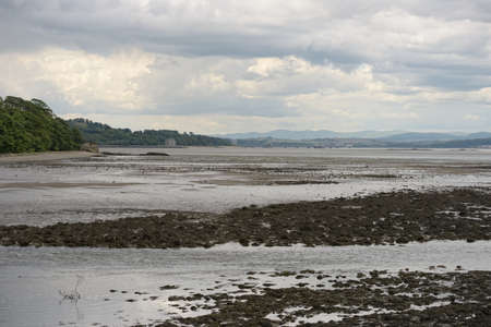 Firth of Forth, Scotland, looking west from Cramond, by the mouth of the River Almond, at low tide