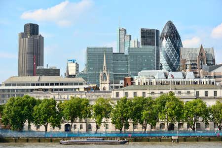 ロンドンの街, 全体から川テムズ, ロンドン, イングランド, イギリス、ヨーロッパ