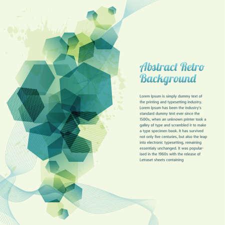 forme: Résumé Contexte rétro géométrique Illustration