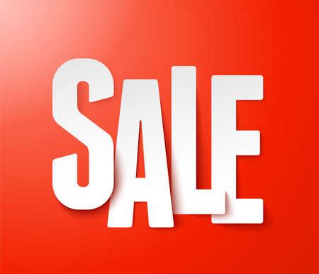 clearance sale: Sale paper  Vector  Illustration