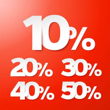 clearance sale: Sale percents  Vector   Illustration