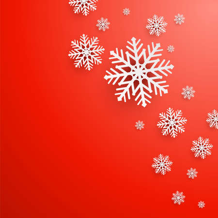 Abstract Christmas Background with snowflakes photo