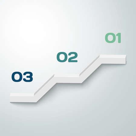 3D vector progress background