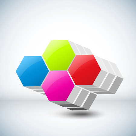 Vector illustration of 3d cubes Stock Vector - 16687843