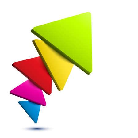 tri�ngulo: Fondo colorido del tri�ngulo 3D