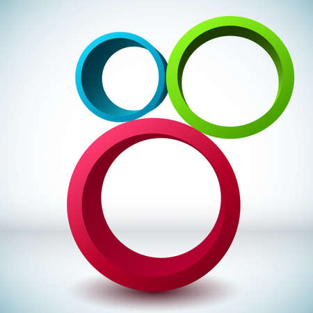 3d circle: Colorful 3D circle background