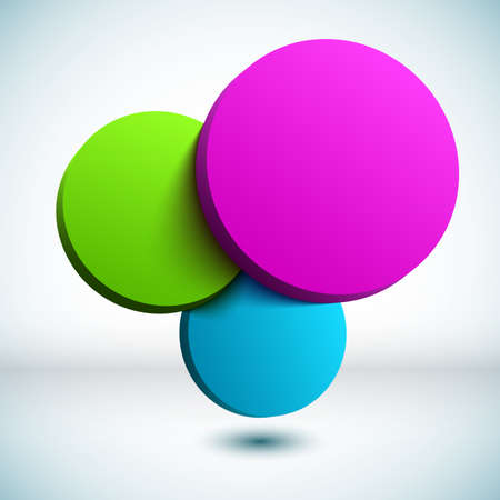 Colorful 3D circle background  photo