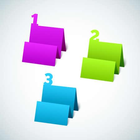 Set of 3D Paper Tag Stock Vector - 17237141