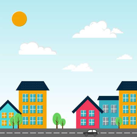 little town: City illustration. Illustration
