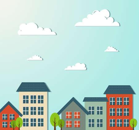 Housing Decoration City Illustration Illustration
