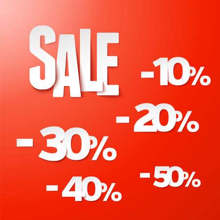 Sale percents paper set.