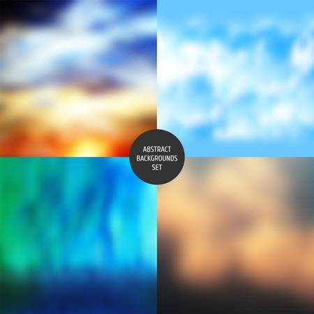 Abstract backgrounds set   Illustration