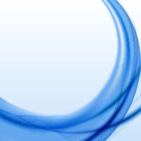 Blue wave background with halftone  Illustration
