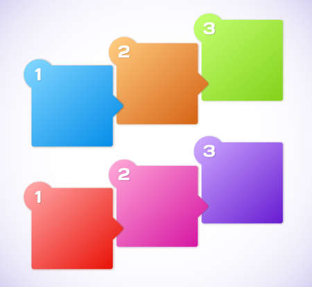 Conceptual vector illustration of colorful cubes Stock Vector - 17258001