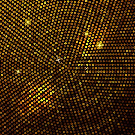 retro disco: Abstract gold mosaic background