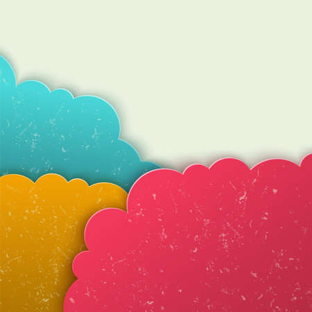 Abstract 3d vector background. Clouds form. Vector