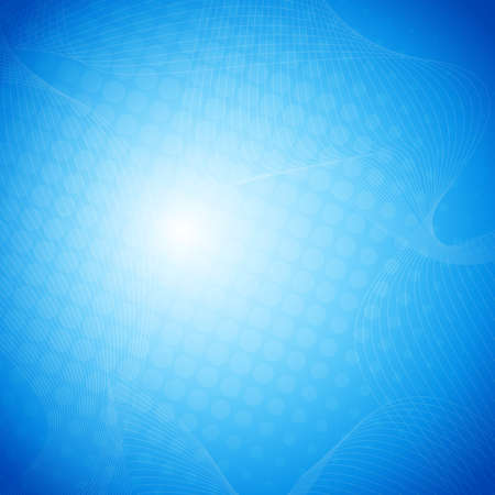blue abstract: Blue vector abstract background with halftone Illustration