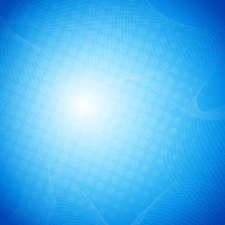 white background illustration: Blue vector abstract background with halftone Illustration