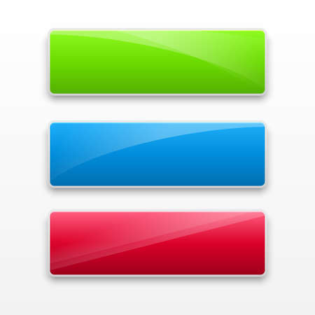 Vector illustration of download buttons set.