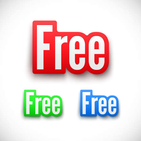 freebie: 3D Free stickers set