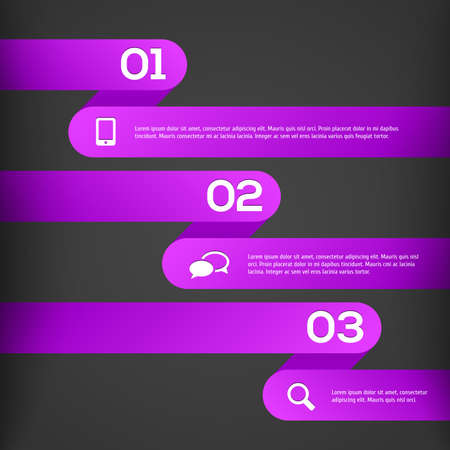 Abstract 3D Infographics illustration Vector