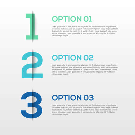 Abstract 3D Infographics  illustration Illustration