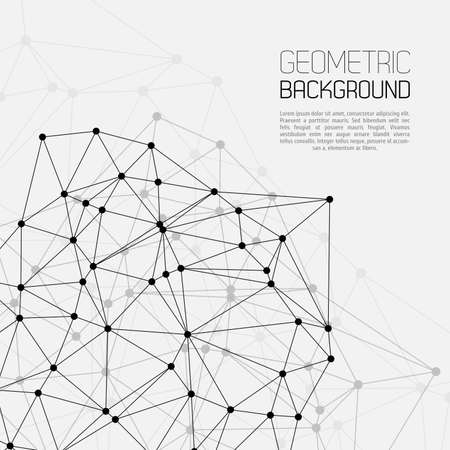 Et molécule Communication Illustration de fond Banque d'images - 22404140